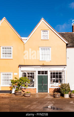The Angel Gallery in the picturesque village of Lavenham , Suffolk , England , Britain , Uk - Stock Photo