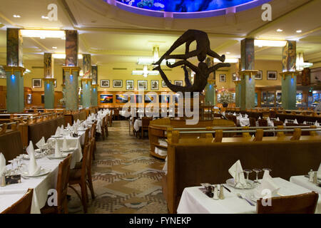 The historic La Coupole restaurant Paris France - Stock Photo