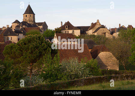Charming village Saint Robert Corrèze Perigord South West France - Stock Photo