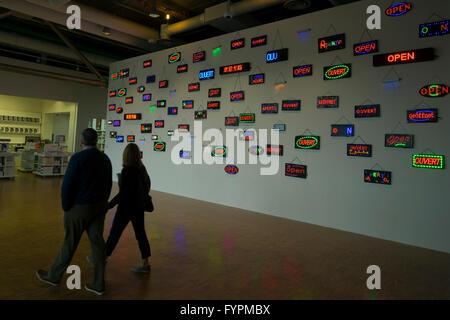 Interior view, Centre Pompidou, Paris, France, Europe - Stock Photo