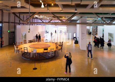 Interior view, Pompidou Centre, Paris, France, Europe - Stock Photo