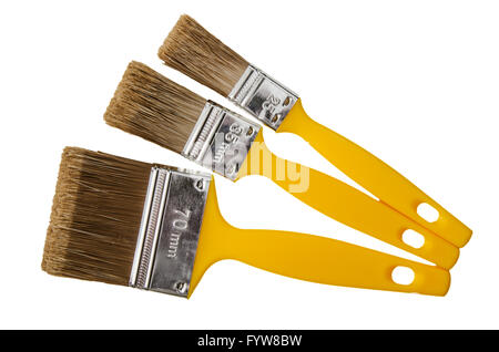 Painting brushes, isolated on a white - Stock Photo