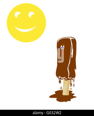 vector illustration icecream on white background - Stock Photo
