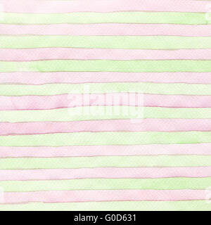 Abstract strip watercolor hand painted background. Paper texture. - Stock Photo