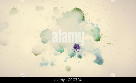 Colorful watercolor paint on vintage canvas. Super high resolution and quality. - Stock Photo