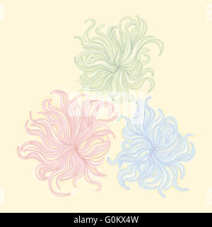 illustration handmade drawing pastel chalks frangipani flower background - Stock Photo