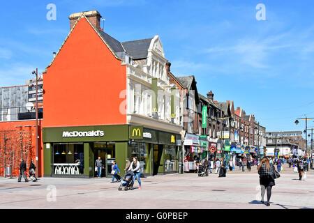 Shops and pedestrian area in the town centre puerto de la cruz stock photo royalty free image - Mcdonald s puerto de la cruz ...