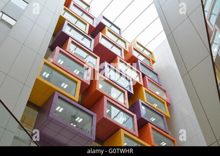 interior of Queen Elizabeth University Hospital - the new super hospital in Glasgow - Stock Photo
