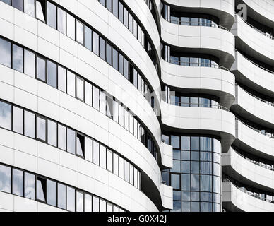 Abstract fragment of modern architecture. Common modern business industrial architecture. Modern office building. - Stock Photo