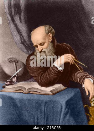 Galileo Galilei (February 15, 1564 - January 8, 1642) was an Italian physicist, mathematician, astronomer, and philosopher - Stock Photo