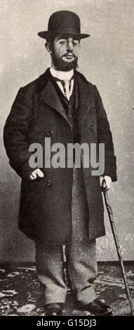 Henri de Toulouse-Lautrec (November 24, 1864 - September 9, 1901) was a French painter, printmaker, draughtsman - Stock Photo