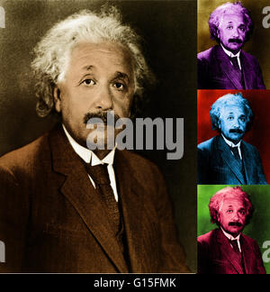 Albert Einstein (March 14, 1879 - April 18, 1955) was a German-born theoretical physicist who developed the general - Stock Photo