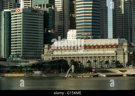 Financial District, Singapore, Southeast Asia, Asia - Stock Photo