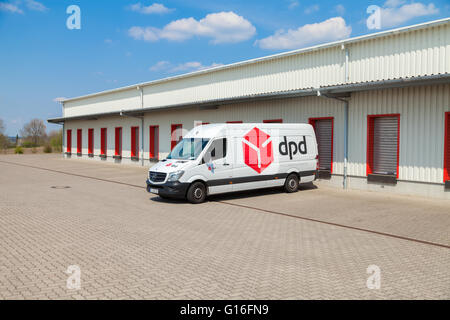 German Mercedes Benz Van From Dpd Stands On Logistic Depot