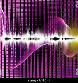 Abstract sound waves, illustration. - Stock Photo