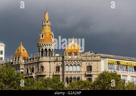 Cases Rocamora, Teatre Tivoli , theatre, Hotel Barcelona, Plaza de Catalunya Catalonia , Barcelona, Catalonia, Spain, - Stock Photo