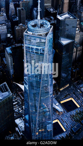 Aerial View Of The World Trade Center And Lower Manhattan