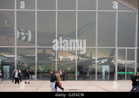 IWM Duxford, Cambridgeshire UK. 29th May 2016. To celebrate the newly-transformed American Air Museum, The American - Stock Photo