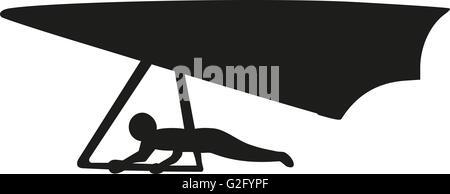 Hand glider silhouette - Stock Photo