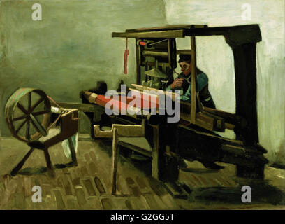 Vincent van Gogh - Weaver - Museum of Fine Arts, Boston - Stock Photo