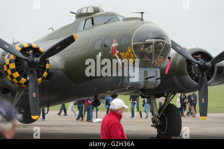IWM Duxford, Cambridgeshire UK. 29th May 2016. The American Air Show celebrates the newly-transformed American Air - Stock Photo