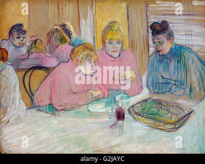 Henri de Toulouse-Lautrec - The Ladies in the Dining Room  - Museum of Fine Arts, Budapest - Stock Photo