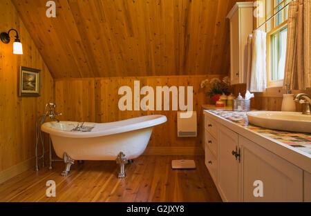 Roll Top Bathtub In Bathroom Of 19th Century Home Quebec