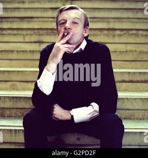 Mark E Smith lead singer of the Fall band photographed in London, England, United Kingdom. - Stock Photo