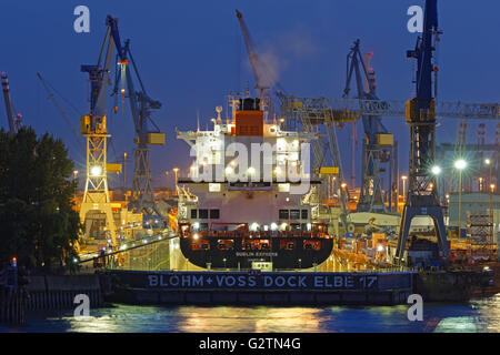 floating dry dock with container ship in the port at valparaiso chile stock photo royalty free. Black Bedroom Furniture Sets. Home Design Ideas
