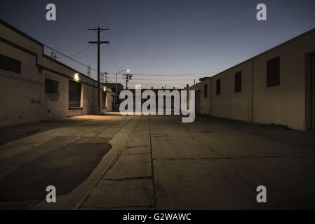 Los Angeles, California, USA. 18th Mar, 2016. An empty street east of the LA River, an increasingly rare find as - Stock Photo