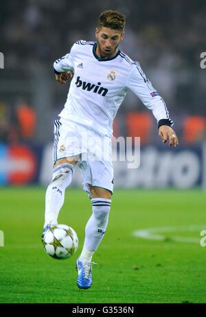 Sergio Ramos, Real Madrid, UEFA Champions League, Borussia Dortmund vs Real Madrid, 2-1, Signal Iduna Park stadium, - Stockfoto