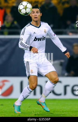 Cristiano Ronaldo, Real Madrid, UEFA Champions League, Borussia Dortmund vs Real Madrid, 2-1, Signal Iduna Park - Stockfoto