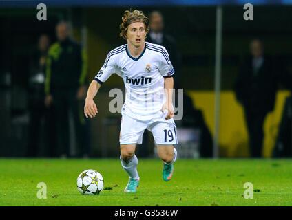 Luka Modric, Real Madrid, UEFA Champions League, Borussia Dortmund vs Real Madrid, 2-1, Signal Iduna Park stadium, - Stock Photo