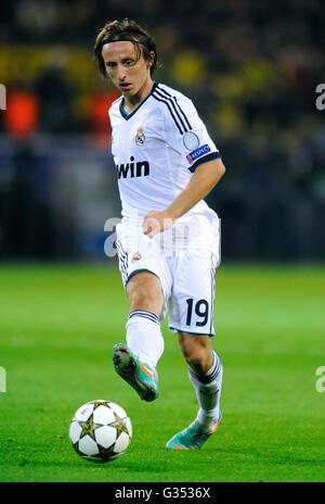 Luka Modric, Real Madrid, UEFA Champions League, Borussia Dortmund vs Real Madrid, 2-1, Signal Iduna Park stadium, - Stockfoto