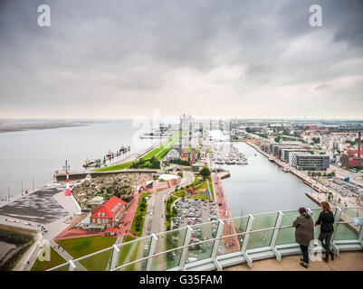 aerial view of bremen harbour germany and the liner. Black Bedroom Furniture Sets. Home Design Ideas