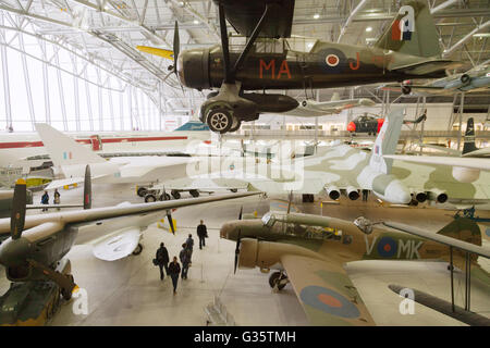 The interior; 'Airspace', part of the Imperial War Museum, Duxford, Cambridgeshire UK - Stock Photo