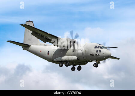 Italian Air Force (Aeronautica Militare Italiana) Alenia C-27J Spartan military transport aircraft MM62215 - Stock Photo