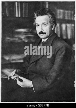 ALBERT EINSTEIN  German Scientist.        Date: 1879 - 1955 - Stock Photo