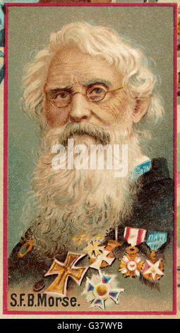 SAMUEL FINLEY BREESE MORSE  American artist and inventor Invented Morse code for use in  telegraph instrument   - Stock Photo
