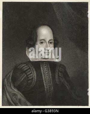 WILLIAM SHAKESPEARE (1564 - 1616) English playwright and poet. - Stock Photo