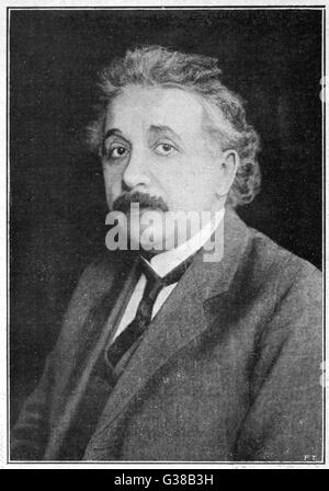 ALBERT EINSTEIN  German born physicist.  Winner of the Nobel  Prize for physics in 1921.      Date: 1879 - 1955 - Stock Photo