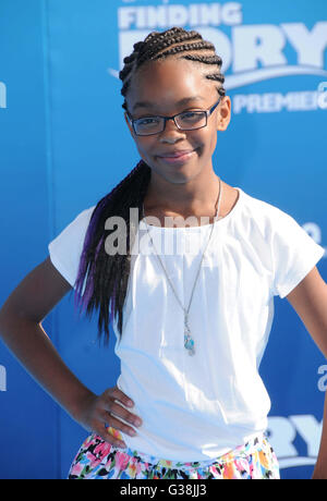 Hollywood, CA, USA. 8th June, 2016. 08 June 2016 - Hollywood. Marsai Martin. Arrivals for the World Premiere Of - Stock Photo