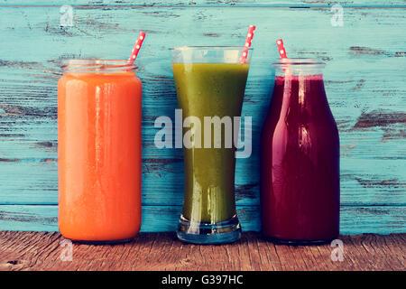 Blue Fruit Patterned Glass Jar
