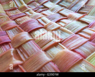 Woven rhubarb lattice - Stock Photo
