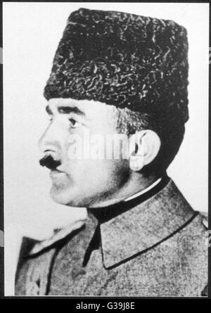 Enver Pasha Turkish Soldier And Leader Of Young Turks