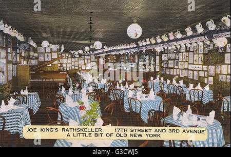 Joe King's Rathskeller, German American Restaurant, 17th Street and 3rd Avenue, New York City, USA.      Date: circa - Stock Photo