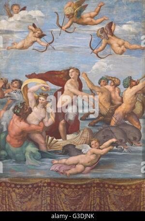 Triumph of Galatea, by Raphael,1512, Villa Farnesina, Rome, Italy, Europe - Stockfoto