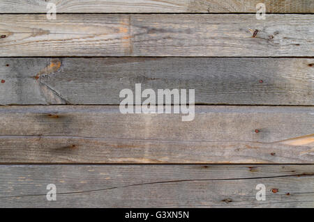 old rough dry planks with nails, texture - Stockfoto