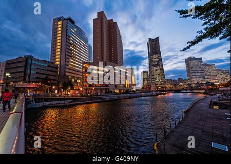 Yokohama skyline , Japan - Stockfoto