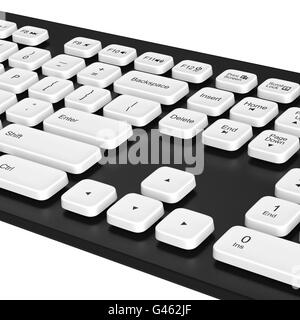 Keyboard, buttons, arrows, enter. 3D graphic - Stock Photo